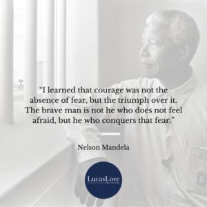 Mandela Fear Quote