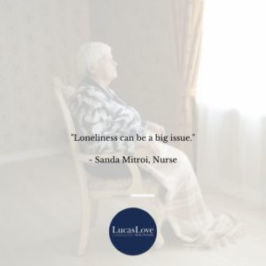 Loneliness can be a big issue quote, Sanda Mitroi