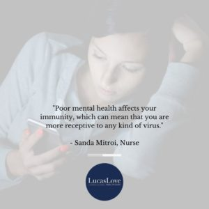Poor mental health affects your immunity, Sanda Mitroi